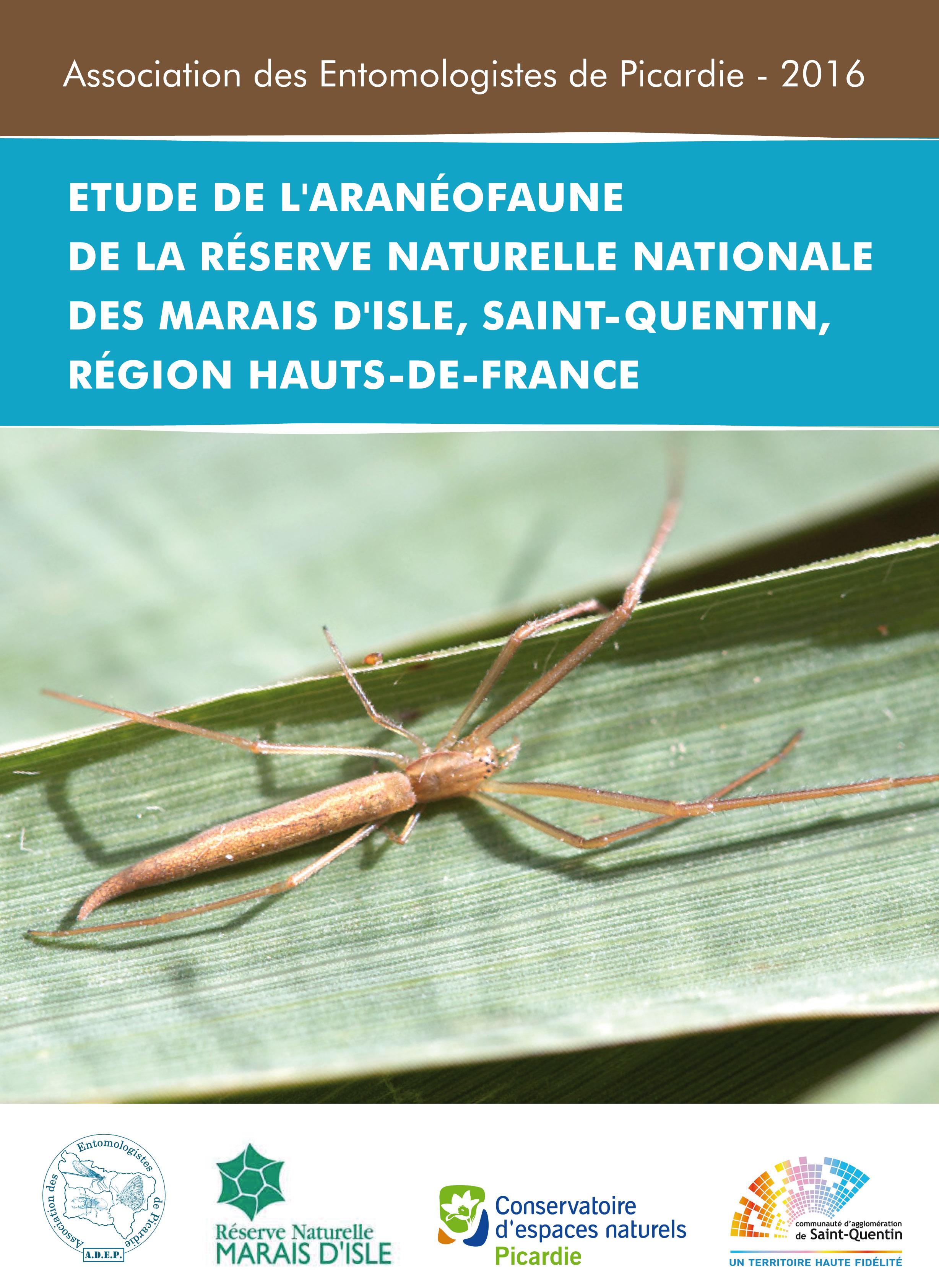 Rapport d'Etude de l'aranéofaune de la réserve de St-Quentin, Marais d'Isle. ADEP 2016