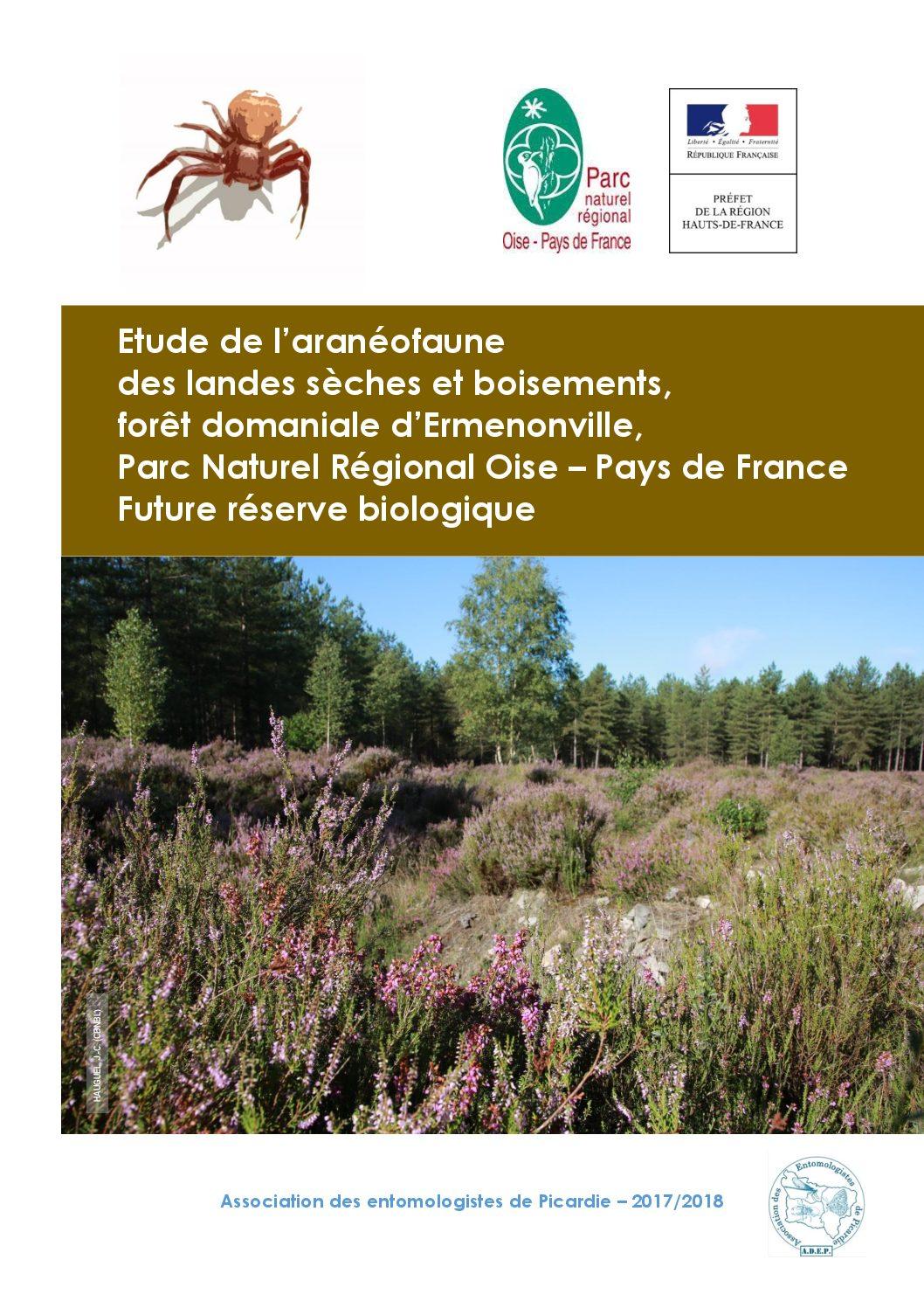 Rapport d'étude aranéologique en forêt d'Ermenonville : ADEP 2018